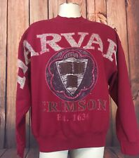 Vintage VTG Harvard Crimson EST 1636 Maroon Spell out sweatshirt 50/50 Mens XL