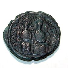 New listing 565 -578 Ad Follis Nicomedia Mint Justin Ii & Sophia Ancient Coin