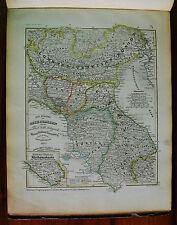 1849 MEYER'S ZEIT-ATLAS=NORD ITALIA,LOMB.VENETO,PARMA,MODENA,TOSCANA,STAT.CHIESA