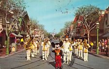 Disneyland, 1971, Mickey Mouse and Band, Message, Magic Kingdom, ,Old Postcard