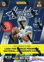 2017 Panini Absolute Football EXCLUSIVE HUGE Factory Sealed Blaster Box-64 Cards