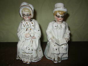 A pair of antique Victorian nodding figures