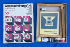 Vintage 70's Screen Printing Craft Kit Speedball #4501 Hunt Mfg Print Your Own