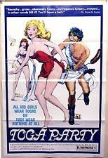 """Toga Party 1sh '77 original sexploitation movie poster """"Stoned out"""" film"""