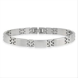 Stainless Steel Interlocking Men's Link Bracelet