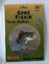 "GONE FISHIN' MYLAR 18"" BALLOON - FISHING BASS, BIRTHDAY"