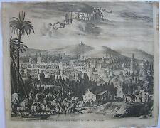 Ramla rama Israël orig. cuivre clés Hofmann après Dapper 1668 staffage
