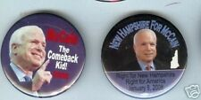 2 John McCAIN  pins NEW HAMPSHIRE Primary