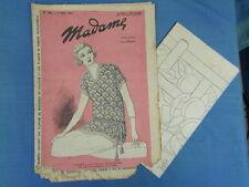 REVUE MODE BRODERIE : MADAME 1924 (166) + DESSINS DECALQUABLES EMBROIDERY