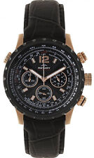 Rotary GS00121/04 Aquaspeed Black Dial Leather Strap Chronograph Men's Watch