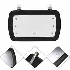 LED Lighted Car/Automobile Light Visor/Vanity Mirror New wert Black Clip On Sun