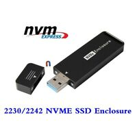 USB 3.0 USB 3.1 To 2230 2242 M Key NGFF M.2 NVME PCIE SSD Enclosure