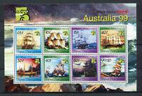 S8557) Papua & New Guinea MNH New 1999, Australia 99 8v M/S Ships Free