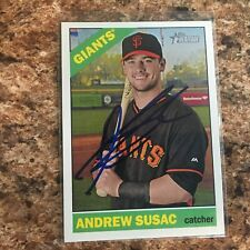 Andrew Susac Signed 2015 Topps Heritage Auto San Francisco Giants