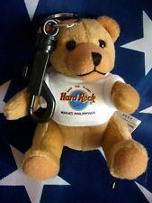 HRC Hard Rock Cafe Makati Key Chain Bear Beara Teddy White 4`` 12cm