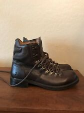 MINT FRYE HIKING BOOTS MOUNTAINEERING BROWN LEATHER 87795 STOMPERS MENS 10 D