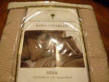"King Charles historic charleston foundation Euro Pillow Sham 26""x26"" Birch Tan"
