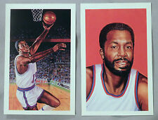Willis Reed & Earl Monroe New York Knicks Postcard Lot