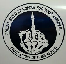 "AWESOME DIGITALLY PRINTED  STICKER/DECAL""MY APPROVAL"" B&W  FORD HOLDEN CHEV"