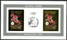 GUYANA 1992 Olympic Games BARCELONA 92 Jumping Horse Mi 3890 B x 2 Gold Imperf