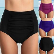 f17ce1d8afa Women High Waist Shirred Bikini 1PCS Bottom Tankini Briefs Swim Shorts  Pnats UK
