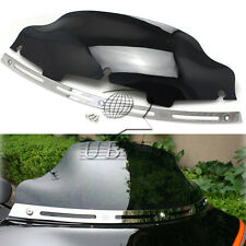 "Slotted Stock Batwing trim + 6"" Windshield Windscreen for Harley Glide 1996-2013"