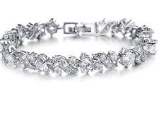 Bridal Crystal 18k Platinum Gold Plated Bracelet Christmas Gift High Quality