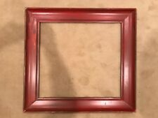 Antique Large 26x24 Arts & Crafts Red Picture Frame c 1930s e