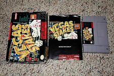 Vegas Stakes (Super Nintendo SNES) Complete in Box GOOD A B C D