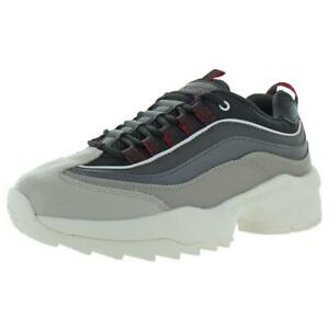 Skechers Mens Chromis Gray Leather Fashion Sneakers Shoes 8 Medium (D)  9146