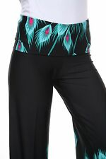 5956a59720c White Mark Plus Size Palazzo Pants 2x Teal Peacock