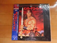 Arnold Schwarzenegger CONAN THE DESTROYER JAPAN movie Laser Disc LD new unopened