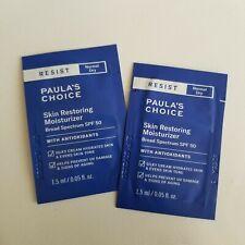 2X Paula's Choice Skin Restoring Moisturizer SPF 50 Sample 0.10oz Total
