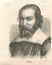 Nicolas-Claude Fabri de Peiresc Peyresc 1580-1637 Astronome baroque GRAVURE 1883