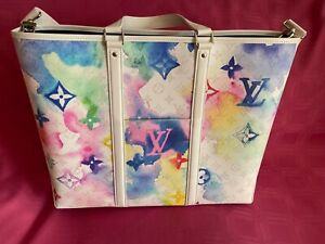 Louis Vuitton Watercolor Tote GM M45755 Authentic ( Summer by the pool for men)