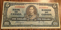 1937 CANADA 5 DOLLARS BANK NOTE - C/S - Coyne / Towers