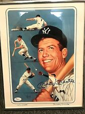 Mickey Mantle Signed Autograph Litho Print 11x14 JSA LOA Limited Edition Yankees