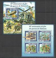 ST2339 2015 MOZAMBIQUE MILITARY & WAR 40TH ANNIVERSARY VIETNAM WAR KB+BL MNH