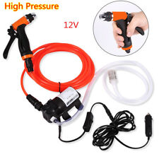 12V Portable Jet Spray Car Wash Washer Gun High Pressure Electric Water Pump Set