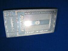 THE SILVER MINT, 20 Grams, Pure Silver .999 Fine, BOLIVIA, Ingot.