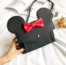 Mickey Mouse Butterfly Knot Single Shoulder Bag Women Messenger Cute Crossbody