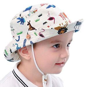 Kids Boys Animals Retro Bucket Hat Baby Toddler Sun Wide Brim Beach Hat Foldable