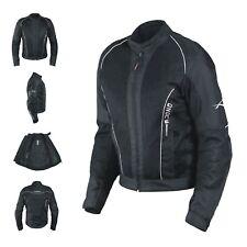 Ladies Mesh Water Liner Summer Jacket Women Motorcycle Motorbike All Sizes Black M Cloud-blacm