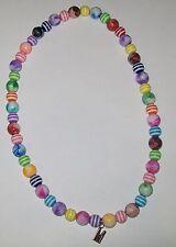 Krewe of Muses plastic marbles bead  M pendant 2017 Mardi Gras signature bead