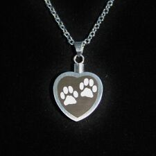 Cremation Jewelry Pendant Urn Necklace for Ashes Pet Dog Cat Paw Print Heart Ash