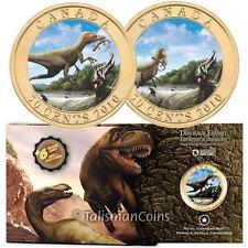 Canada 2010 Dinosaur Exhibits 50 Cents #3 Sinosauropteryx 3D Lenticular Effect
