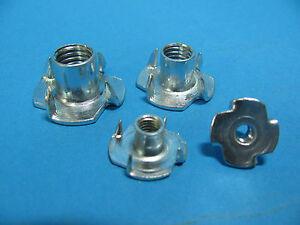 Einschlagmuttern Verzinkt mit 4 Spitzen M4 M5 M6 M8 M10