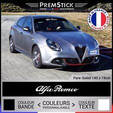 Sticker Pare Soleil Alfa Romeo - Autocollant Voiture, Stickers Racing, ref1