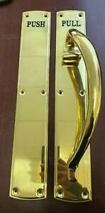 Ex Display SOLID BRASS Ornate Pull / Push Handle set 460mm x 75mm RRP £185