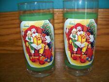 "2 CHRISTmas tree 5.25"" tall Ronald McDonald's reading children vintage glasses"